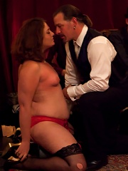 Personal slave is released from chastity to be fucked, shocked, and bound