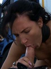 Super Hot Euro Babe Disgraced in the Streets