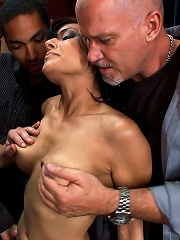 Hot Fiance Spies on her Grooms Bachelor Party and Gets Punished